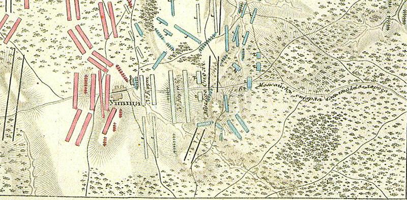 Фрагмент схемы Бородинского