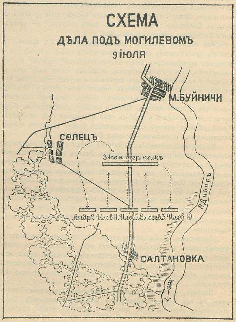 57. Ниве Петр Андреевич * Схема дела под Могилевым 9 июля 1812 года.