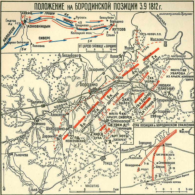 Три позиции в Бородинском