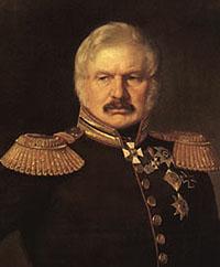 Портрет генерала А. П. Ермолова. Худ. П. З. Захаров (Захаров-Чеченец). 1843 г. Фрагмент.