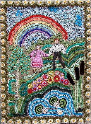 Вязаные картины Пономаревой